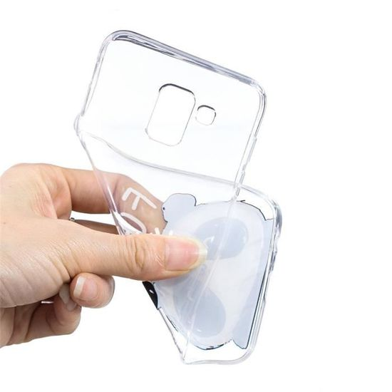 Coque Samsung Galaxy J6 , Clair TPU Silicone Flexible Doux Coque ...