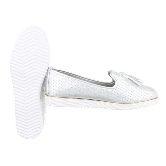 Femme chaussures flâneurs Slipper loisirs chaussures blanc 41 t0JOi4Xc