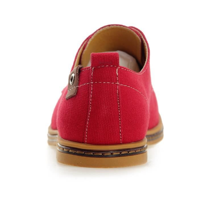 DADAWEN Homme Canvas Oxford chaussure Rouge 48