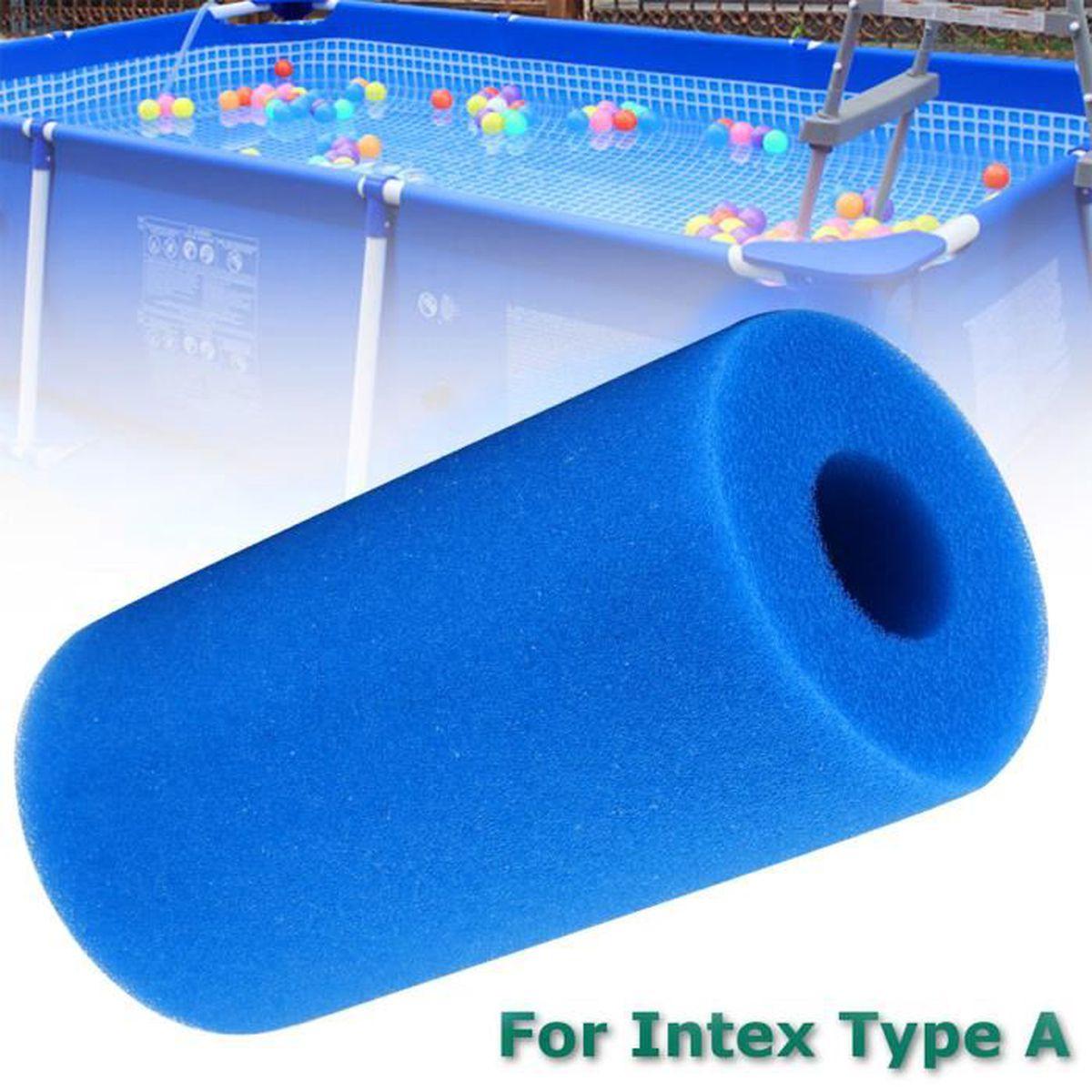 Filtre Piscine Lave Vaisselle 2pcs filtre à eau de piscine intex type a filtre de piscine lavable  réutilisable Éponge de cartouche de mousse