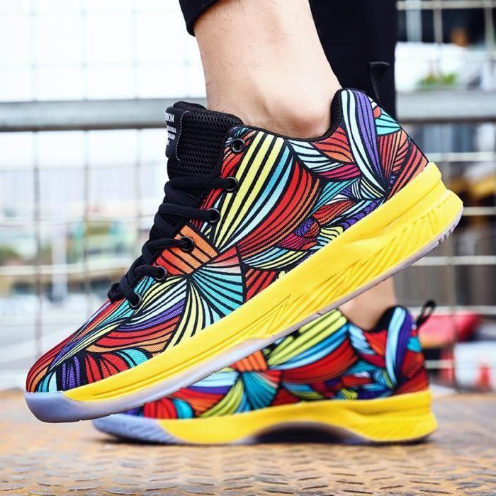 Hommes Sports de plein air Chaussures Mode Chaussures de basket-Flor Casual Sneakers rouge ZZJ90705103RD39