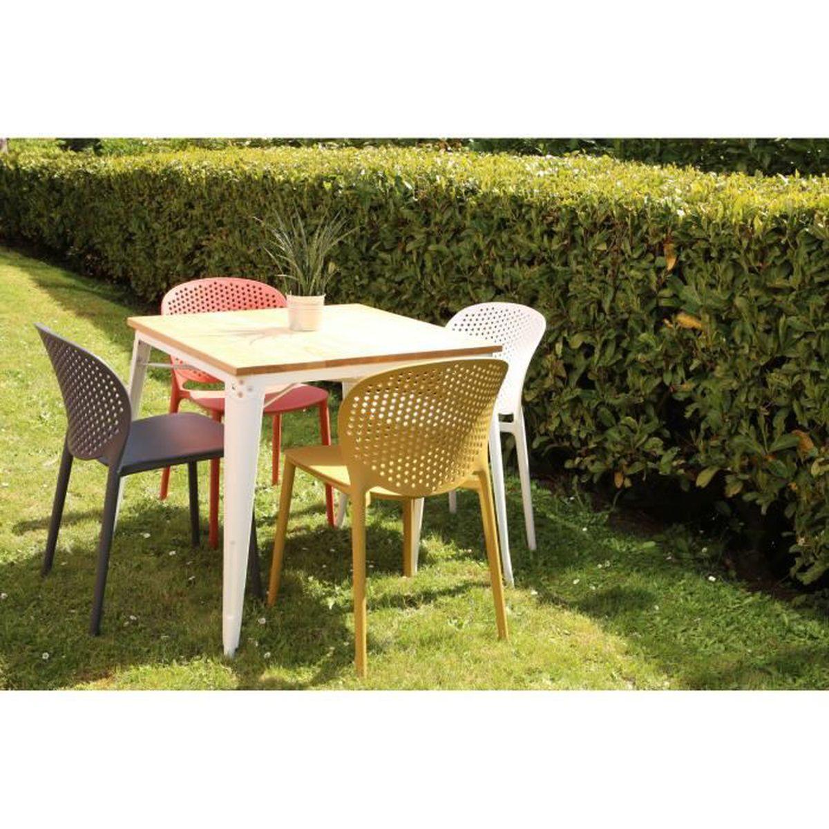 Jardin Sur Une Terrasse lots 4 chaises design jardin terrasse - achat / vente