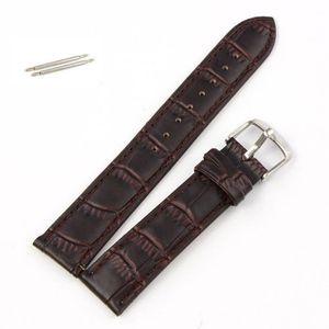 Bracelet montre Cuir Buffle 16 mm Vert Boucle Acier Neuf !!