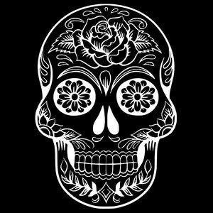 Stickers Tete De Mort Mexicaine