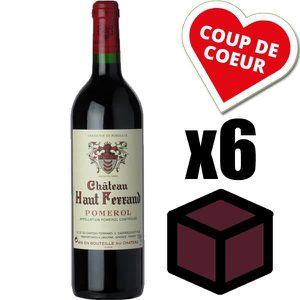 VIN ROUGE X6 Château Haut Ferrand 2010 Rouge 75 cl AOC Pomer