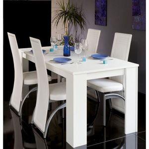 TABLE À MANGER SEULE CITYLUXE Table à manger extensible 120-200 cm blan