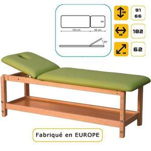 Table de massage Lit de massage en hêtre massif Vert d'eau marbré