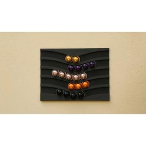 Distributeur nespresso 50 capsules horizontales achat for Support mural pour capsules nespresso