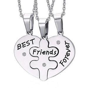 SAUTOIR ET COLLIER EVRYLON Collier Best Friends Forever pour 3 cœurs