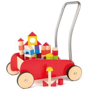 PORTEUR - POUSSEUR KIM Chariot de marche pousseur en bois et métal av