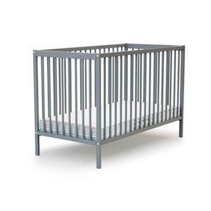 LIT BÉBÉ Lit bébé en bois laqué gris Baby Fox à barreaux  3