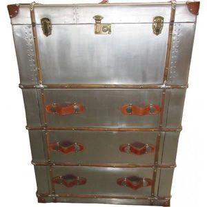 COMMODE DE CHAMBRE Casa Padrino Art Déco Vintage Valises aluminium Ar