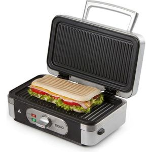 CROQUE MONSIEUR DOMO DO9136C Gaufrier multifonction - Inox