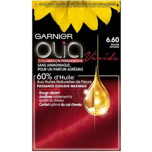 COLORATION GARNIER Olia Coloration n° 6.6 rouge intense