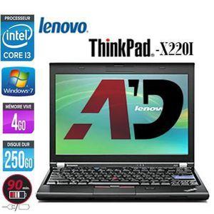 Top achat PC Portable Lenovo Thinkpad X220i Core i3 250Go 4Go pas cher