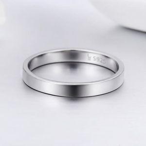 BAGUE - ANNEAU WOSTU Argent Sterling 925 Simple Bague De Mariage