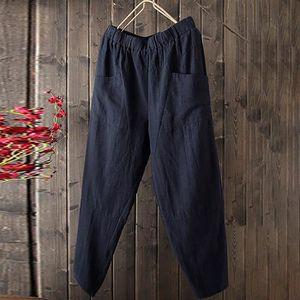 PANTALON Femmes Pure Color taille haute Pantalon large coto