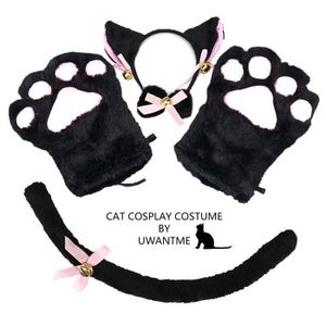 ROBE Cosplay Chat Costume Chaton Queue Oreilles Collier