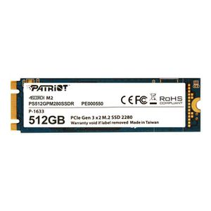 DISQUE DUR SSD Patriot Scorch Disque SSD 512 Go interne M.2 2280
