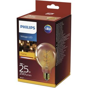 AMPOULE - LED PHILIPS LED Globe Vintage Filament Spirale 5 équiv