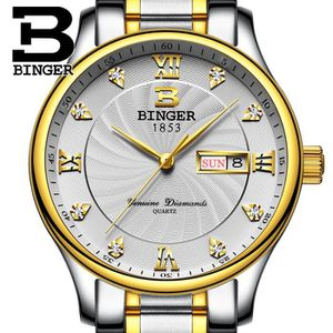 MONTRE BINGER® Montre Homme marque de Luxe Sport Chronogr