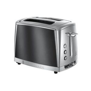 GRILLE-PAIN - TOASTER Russell hobbs - grille-pains 2 fentes 1550w gris -