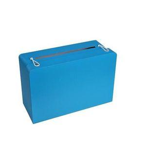 KIT DE DECORATION Tirelire valise bleue turquoise (x1)