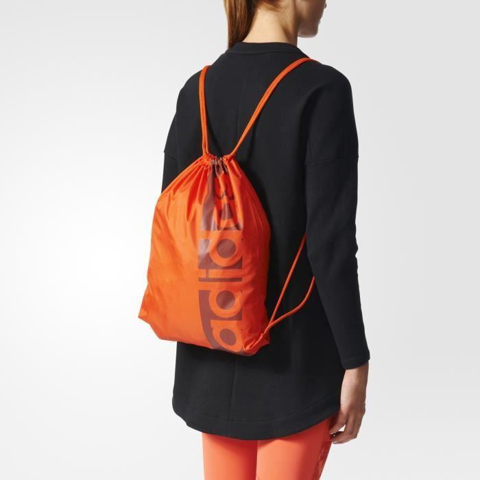 Sac de sport adidas Linear Performance - orange brique/gris/bordeaux - TU