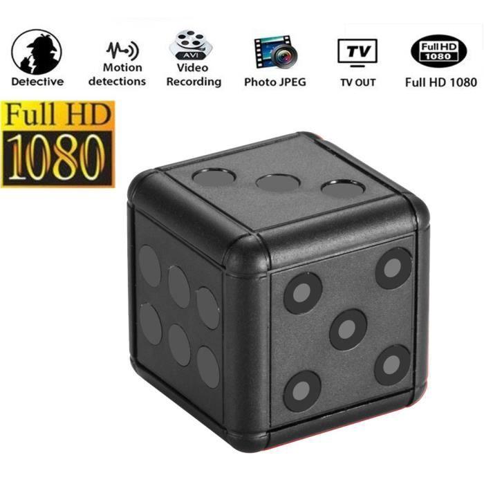 1080P HD CAMERA MINIATURE - CAMERA ESPION avec vision nocturne caméra de sport de détection de mouvement enregistreur vidéo noir