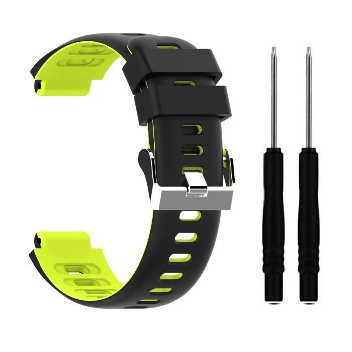 bracelet de montre vendu seul Bracelet de remplacement en silicone pour sport pour Garmin Forerunner620 - 630 - 735xt