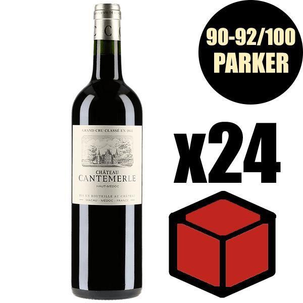 X24 Château Cantemerle 2016 Rouge 75 cl AOC Haut-Médoc 5éme Cru Classé Vin Rouge
