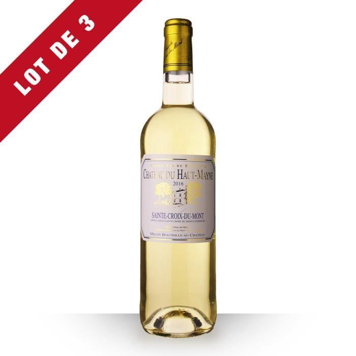 3X Château du Haut-Mayne 2016 Blanc 75cl AOC Sainte-Croix-du-Mont - Vin Blanc