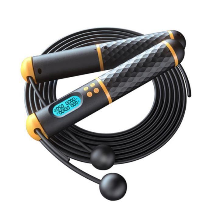 CORDE A SAUTER Mixte - Corde à sauter sans fil avec comptage intelligent - Jaune JX™