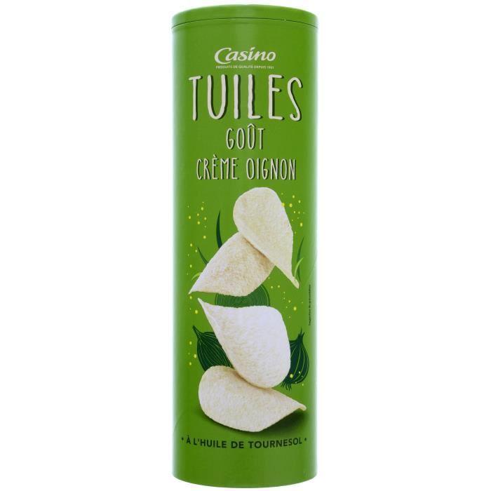 CASINO Tuiles goût crème oignon - 170G