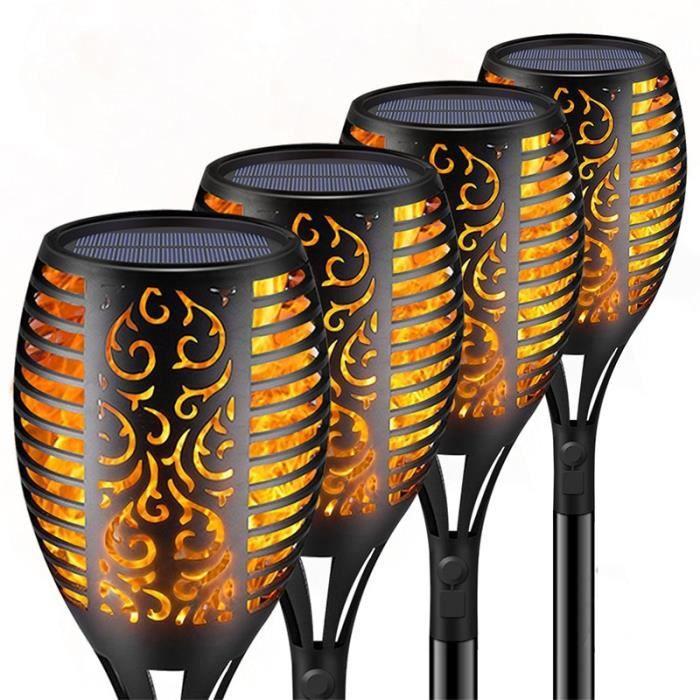 33-96 LED lampe à flamme solaire torche extérieure lumières sécurité étanche lumière scintillement lumières po - 1PC-33 LED - JB1649