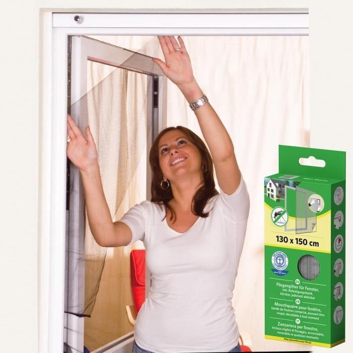 Moustiquaire fen/être Auto-Agrippante SCRATCH Lot de 5 Polyester Inclus bande adh/ésive et Toile anti insect mouches Auto-Adh/ésif Rideaux Anti Moustique