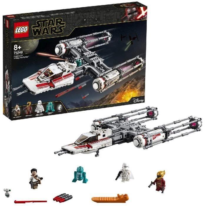 Jeux de construction LEGO®-Star Wars™ Y-Wing Starfighter™ de la Résistance Jouet Enfant à Partir de 8 ans, 578 Pièces à 52634