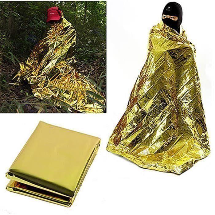 Étanche de survie Foil thermique premier sauvetage aide Blanket 160cmx210cm A61082