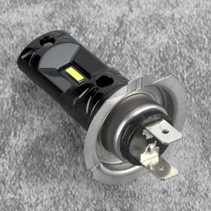 Qii lu 2 pièces H7 Kit de Conversion de Phare à LED Super Brillant, Ampoules de Phare Antibrouillard Phare de Voiture en Aluminium