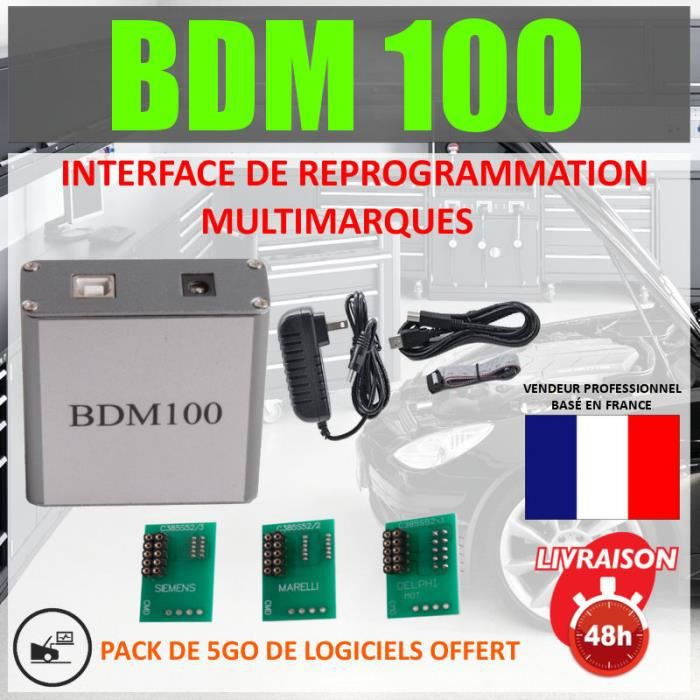 INTERFACE REPROGRAMMATION AUTOMOBILE - BDM 100 - COMPATIBLE BDM FRAME