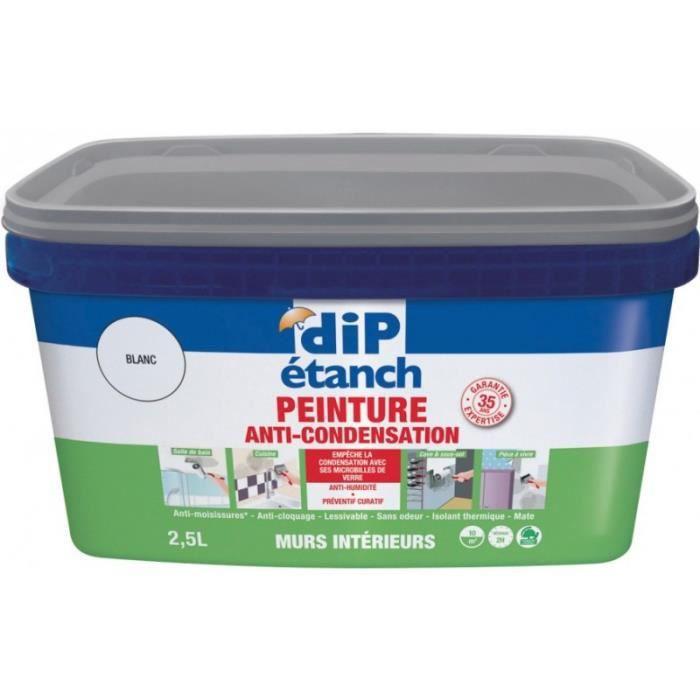 Peinture anti-condensation 2,5L Blanc mat