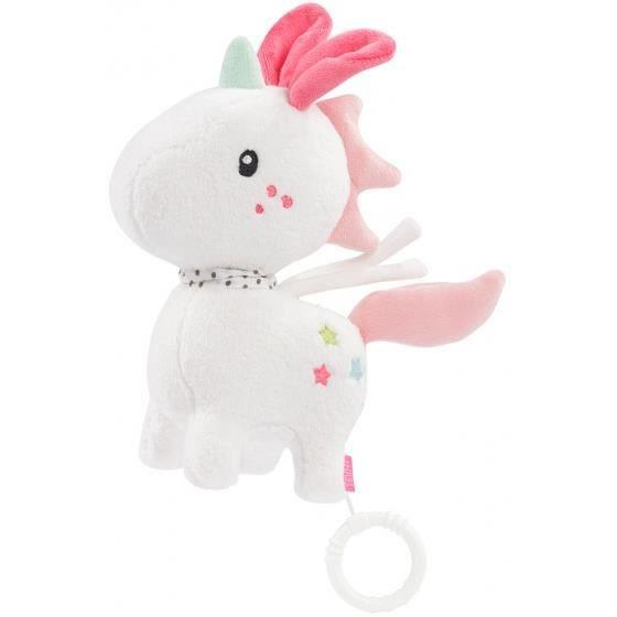 Boîte à musique Aiko & Yuki licorne 20 cm blanc
