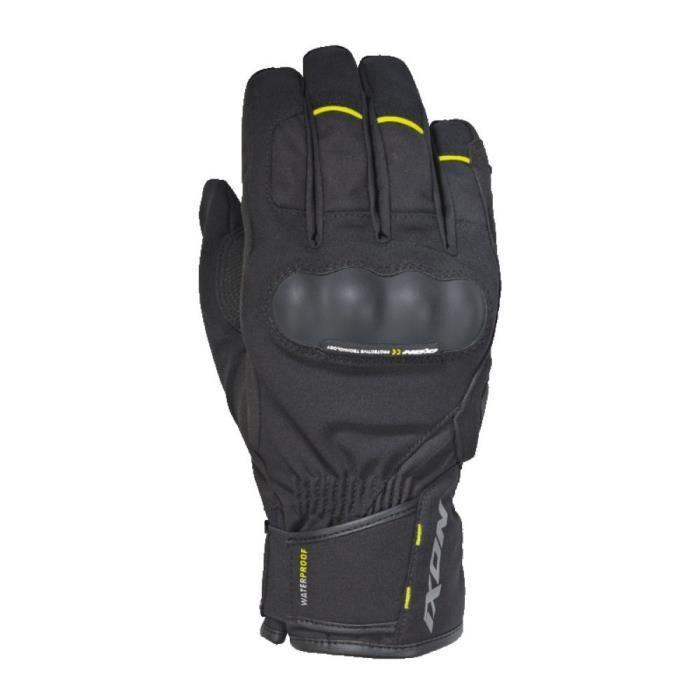 IXON Gants moto Pro Russel - Homme - Noir et jaune
