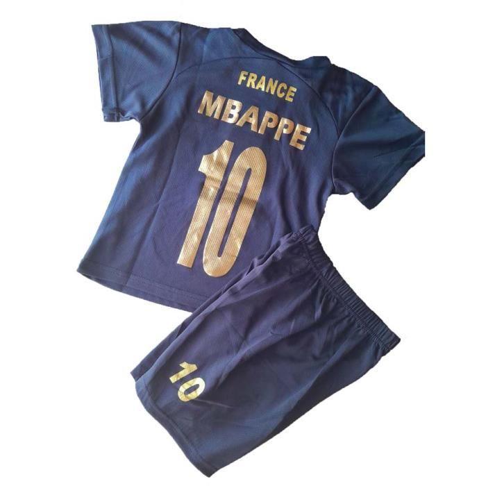 MAILLOT de foot FRANCE 2 étoiles MBAPPE short enfant