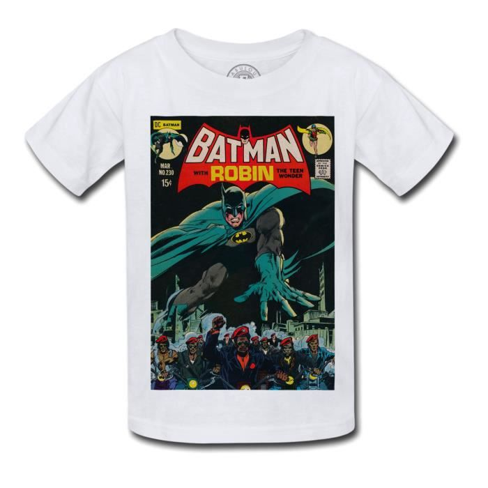 T-shirt Enfant Batman With Robin Bande Dessinee Comics Super Hero
