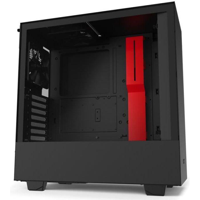 NZXT H510 Verre trempé USB 3.1 Noir-Rouge Mat