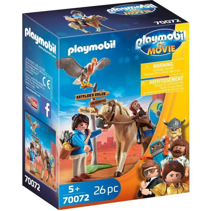 PLAYMOBIL 70072 - PLAYMOBIL THE MOVIE Marla avec cheval