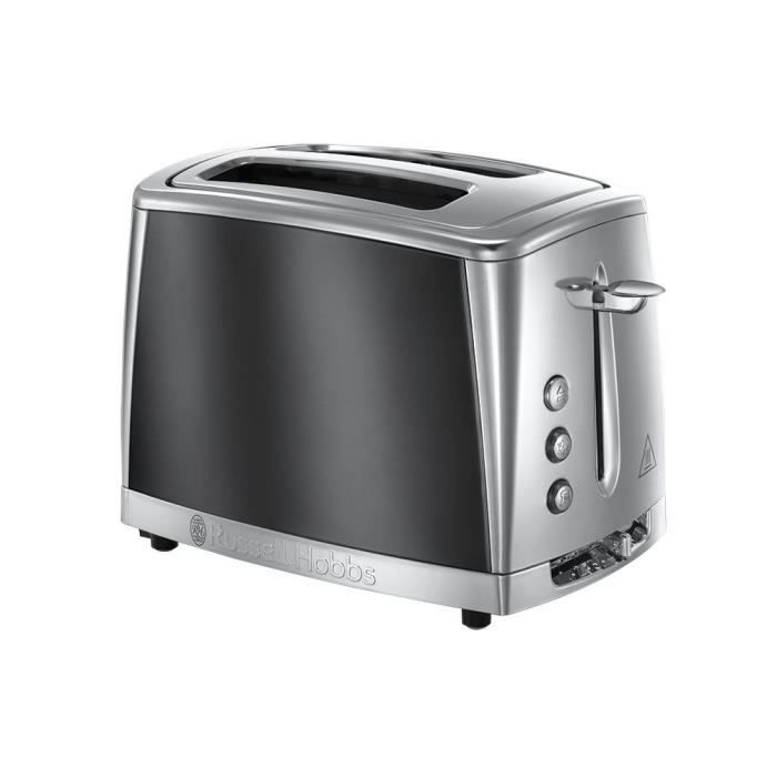 RUSSELL HOBBS 23221-56 -Toaster Luna - Technologie Fast Toast - Gris Clair de Lune