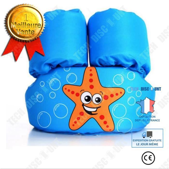 TD® Mousse natation bras anneau natation gilet de sauvetage produits auxiliaires pour enfants costume de flottaison bras 2-8 ans