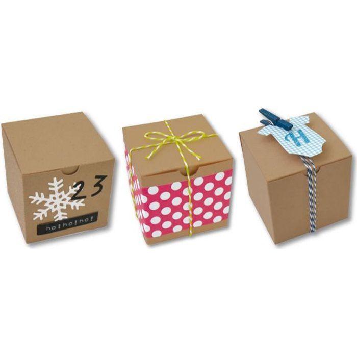 D.I.Y WITH TOGA 6 Boites Cubes Kraft